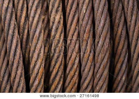 Rusty iron rope background