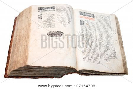 Ostroh Bible, the first complete printed edition of the Bible in Old Church Slavonic, published in 1581
