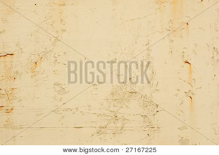 old peeling paint with a warm tone
