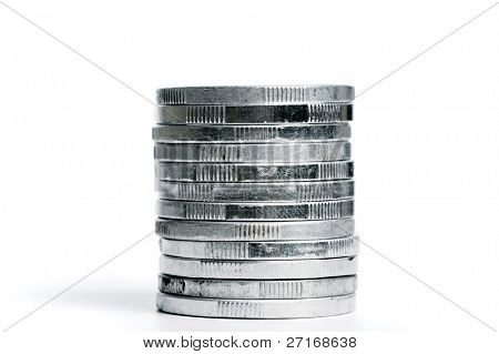 Stack of loose change