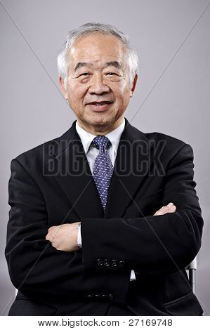 Asian businessman portrail, highly detailed