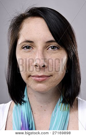 Real woman, natural, normal portrait with high detail