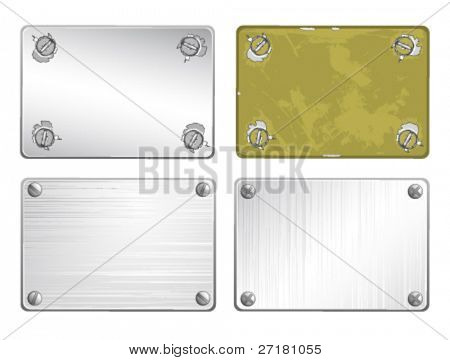 set of metal plates for design