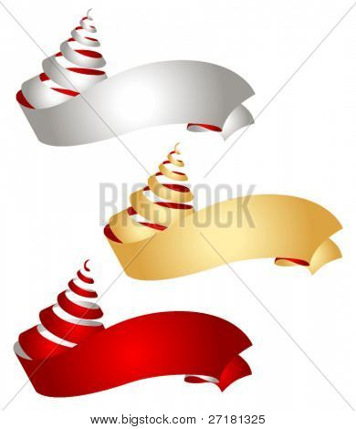 set of vector ribbons for design