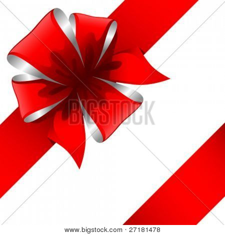 vector illustration of gift bow