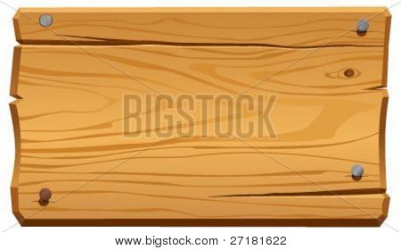 vector illustration of wood frame
