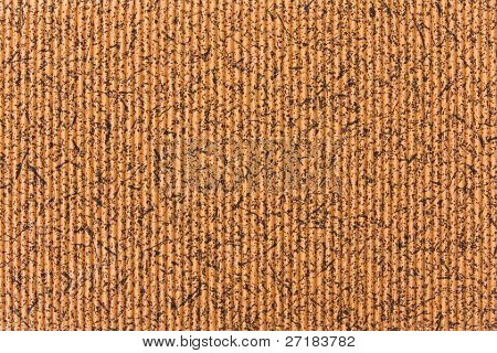 Decorative corrugated cardboard background texture close up