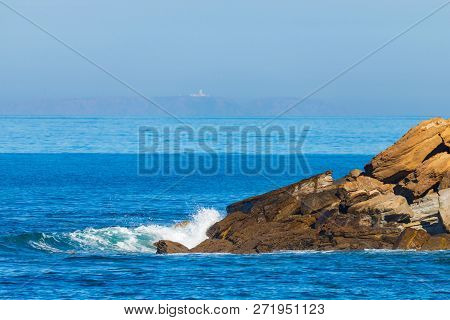 Sea Waves Breaking On A