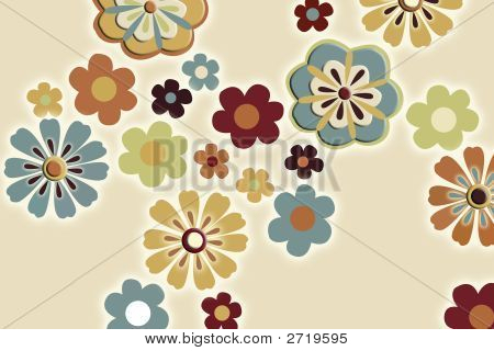 Flower Retro Background
