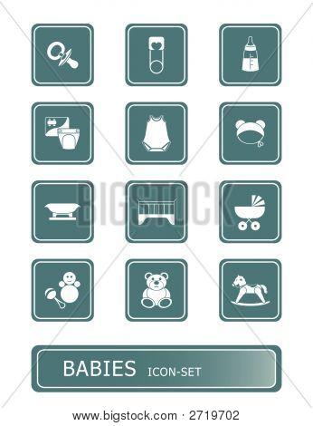 Conjunto de ícones de bebês