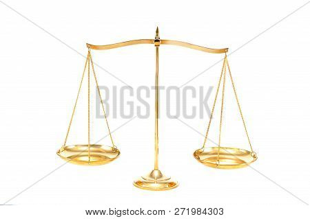 Golden Brass Balance Or Imbalance