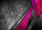 Grunge Tech Material Contrast Pink And Dark Grey Corporate Texture Background. Vector Illustration poster