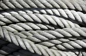 stock photo of pirate ship  - coil of old rope - JPG