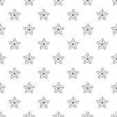 Botany Flower Pattern Seamless Repeat Background For Any Web Design poster