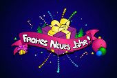 Frohes Neues Jahr. Vector Creative Background. Happy New Year In German Language. Colorful Line Art poster