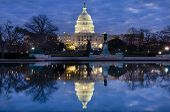 United States Capitol Building at night - Washington DC United States of America poster