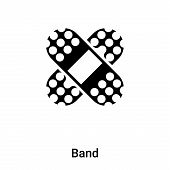 Band Icon In Trendy Design Style. Band Icon Isolated On White Background. Band Vector Icon Simple An poster