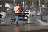 Sidewalk Cleanup poster