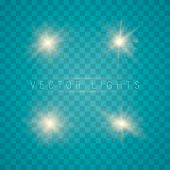 Glowing Lights Effect, Flare, Sun And Stars. Set Of Vector Glowing Light Effect Stars Bursts With Sp poster