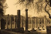 image of olympic stadium construction  - Ancient Olympia the cradle of the Olympic games in Greece - JPG