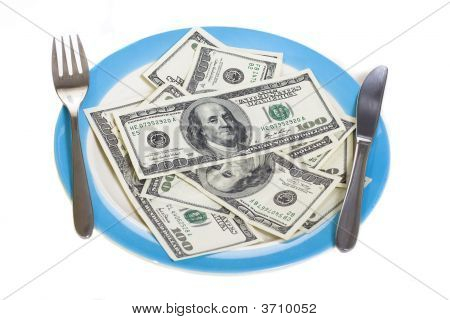 Few Hundred Dollars On Plate
