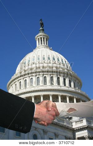 Handshake With Us Capitol Building