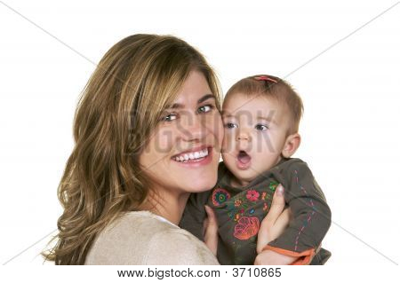 Momma Hugging Her Little Girl