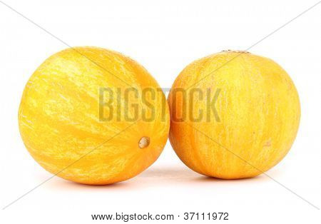 Ripe melons isolated on white