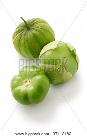 green tomatillo fruits, salsa verde ingredient
