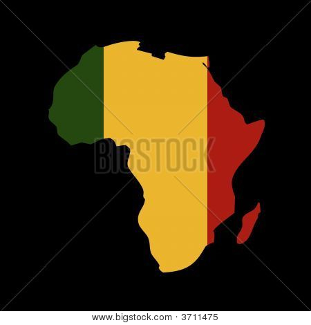 Rasta Colours In Africa