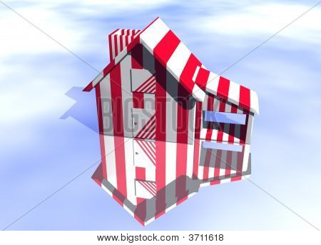 Carnival Style Striped House
