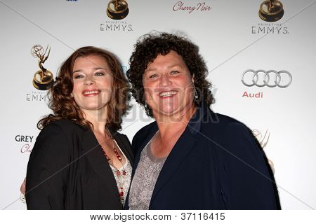LOS ANGELES - SEP 21:  Bridgett Casteen, Dot-Marie jones arrives at the Primetime Emmys Performers Nominee Reception at Spectra by Wolfgang Puck on September 21, 2012 in Los Angeles, CA