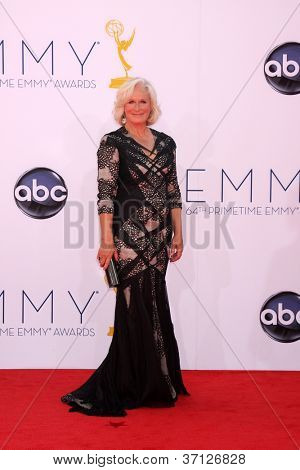 LOS ANGELES - SEP 23:  Glenn Close arrives at the 2012 Emmy Awards at Nokia Theater on September 23, 2012 in Los Angeles, CA