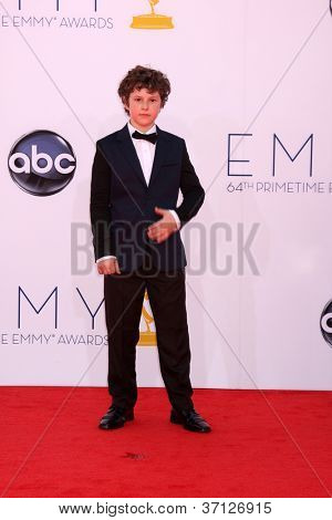 LOS ANGELES - SEP 23:  Nolan Gould arrives at the 2012 Emmy Awards at Nokia Theater on September 23, 2012 in Los Angeles, CA