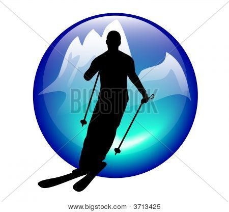 Ski And Slalom Icon