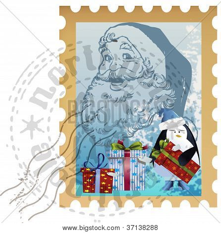 holiday postage stamp clip-art