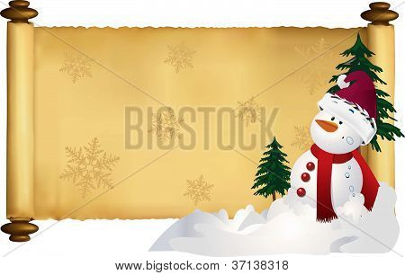 holiday scroll vector