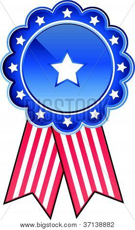 vector image of a stars and stripes medal