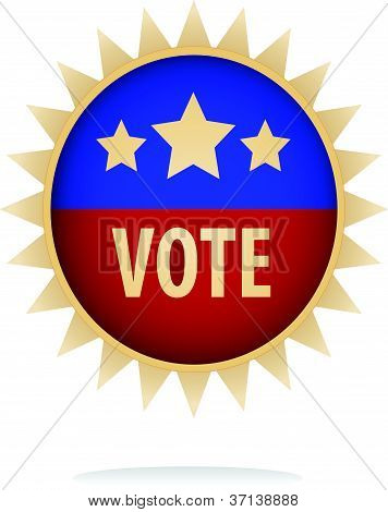 vector image of a vote button