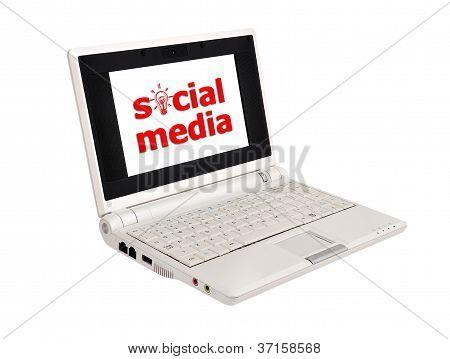 Social Media In Laptop