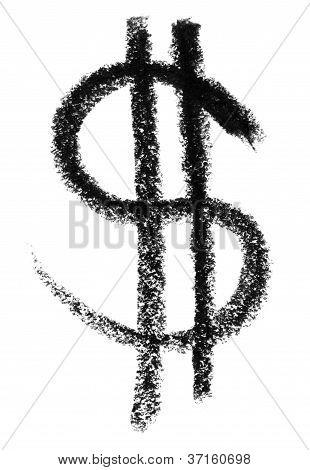 Bosquejo del símbolo de dólar