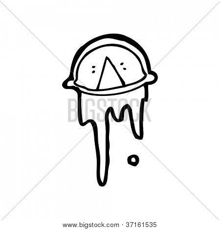 cartoon crying eye symbol