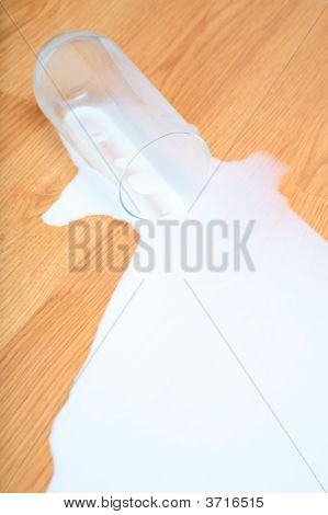 Milk Spill On Wood