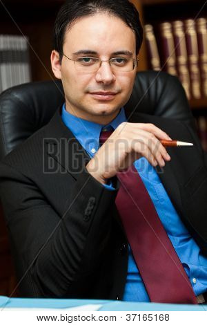Handsome successful lawyer portrait