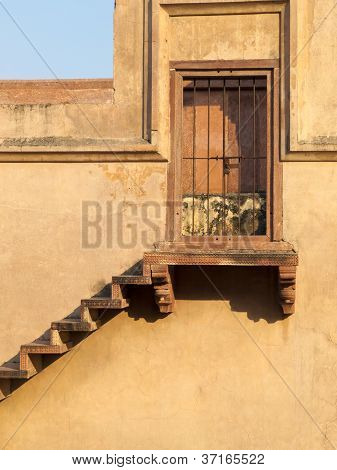 Stairway To Locked Sandstone Door