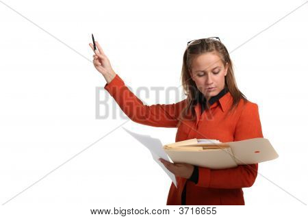 Young Business Woman Giving A Presentation