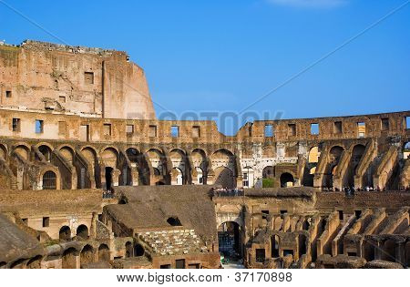 View Of Inside The Colosseum