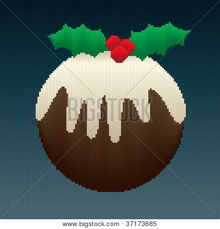 Christmas Pudding In Stripes