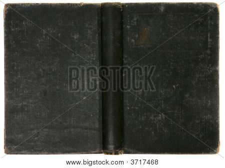 Distressed Old Vintage Black Book Background