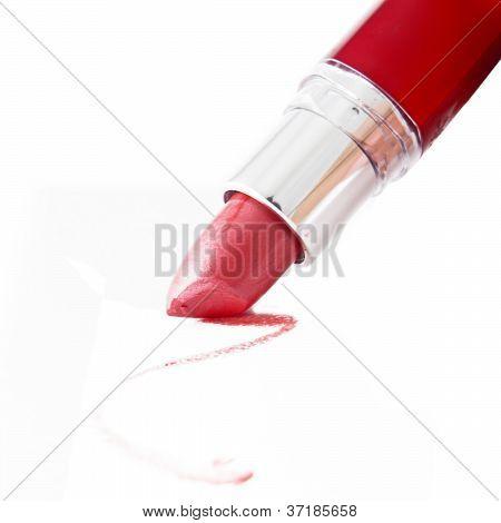 leuchtend roten Lippenstift